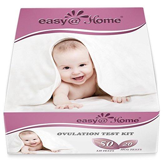 Fácil @ Home 50 Tiras De Prueba De Ovulación Y 20 Tiras De P