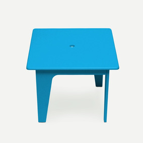 Mesinha Infantil Azul Claro Laca Arco Design Caixotin