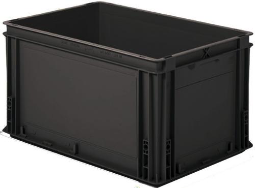 Caja Athena 60x40x32 Cm Negras Sin Tapa Apilables 60 Lts
