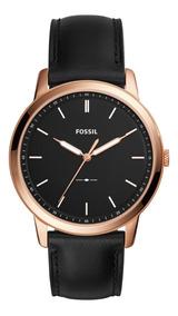 Reloj Caballero Fossil Fs5376 Color Negro De Piel