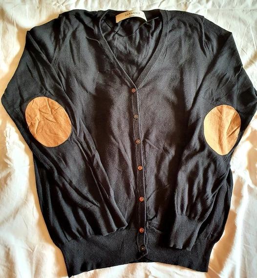 Cardigan Negro Zara Knit Talle L - Excelente Estado