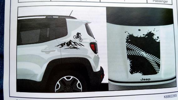Novo Adesivo Capo E Lateral Jeep Renegade Mopar 82214823