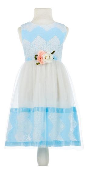 Vestido Importado Nena Con Tull Para Fiestas Talle 4a8 C8736