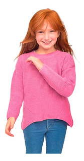 Witty Girls Sweater Rosa Corazon Abrigo Nena Niñas Ropa