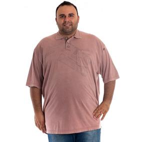 6cf3ab5358 Camisa Polo Manga Curta Marrom Claro
