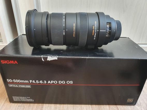 Lente Sigma 50-500 F4.5-6.3 Apo Dg Os Nikon