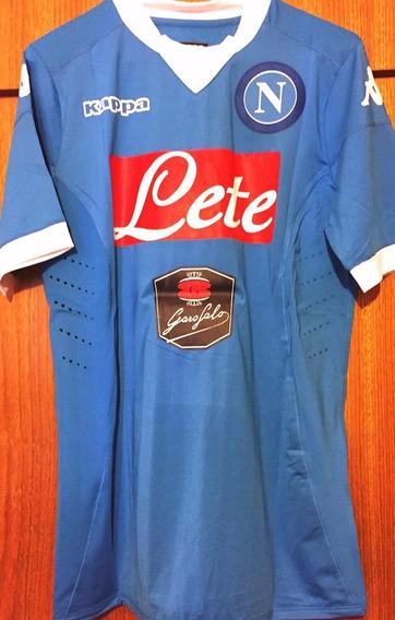 Camisa Napoli Mertens #14 2015/16 Versão Jogador Completa