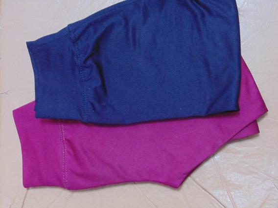 Calzas X2 Niños Azul/borravino T6 Usadas En Perfecto Estado