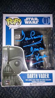 Star Wars Darth Vader Funko Pop Autografo Certificado