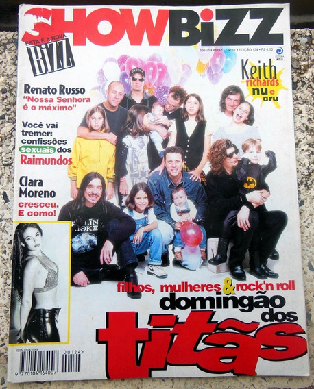 Revista Show Bizz 124 Titãs Renato Russo Pôster Mamonas 1995