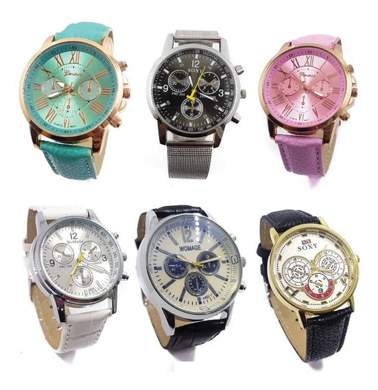 Remate !! Lote De 5 Relojes Dama Caballero Moda