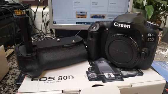 Canon Eos 80d + Grip + Bateria Extra