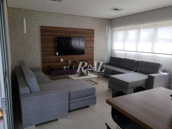 Studio Para Alugar, 44 M² Por R$ 300.000/mês - Boqueirão - Santos/sp - St0017