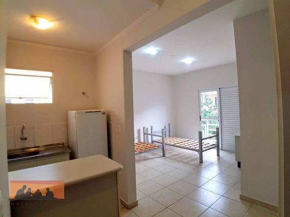 Kitnet Com 1 Dormitório Para Alugar, 27 M² Por R$ 1.700,00/mês - Cidade Universitária - Campinas/sp - Kn0241
