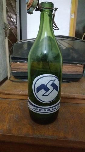 Botella Antigua Soda Mar Del Plata