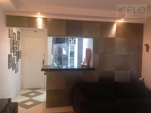 Apartamento À Venda, 86 M² Por R$ 440.000,00 - Campo Grande - Santos/sp - Ap1387