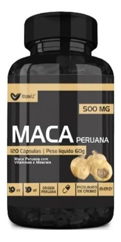 Maca Peruana Pura Original 120 Cápsulas - Envio Rápido