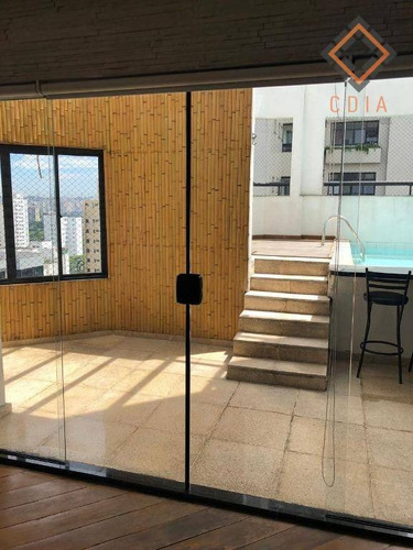 Cobertura Com 3 Dormitórios À Venda, 210 M² Por R$ 2.500.000,00 - Moema - São Paulo/sp - Co0807