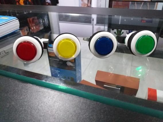 Kit Com 30 Botões Para Fliperamas Arcades Ou Máquinas