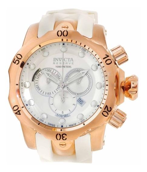 Relógio Invicta 11953 Reserve Venom Branco Rose Original