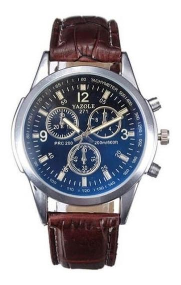 Relógio Masculino Social De Luxo,puseira De Couro
