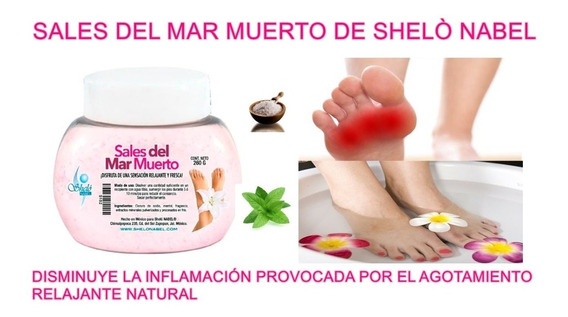 Sales Del Mar Muerto Relajante Pies Cansados Shelo Nabel