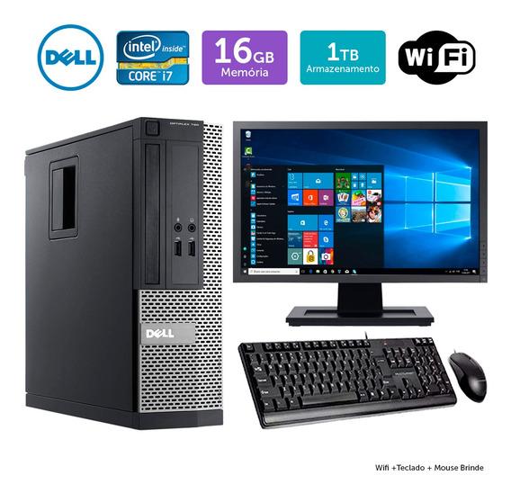 Desktop Usado Dell Optiplex 3020sff I7 16gb 1tb Mon17w