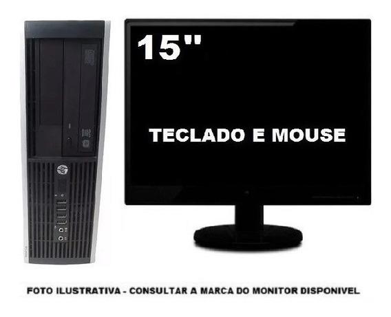Computador Hp Dualcore 8gb Ddr3 120gb Ssd - Seminovo