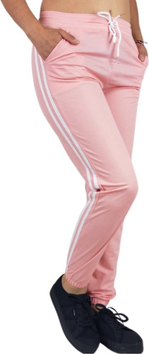 Pantalon Jogger Buzo Mujer Algodon Verano Franja M A Xxl 26 Prendasdevestirpink