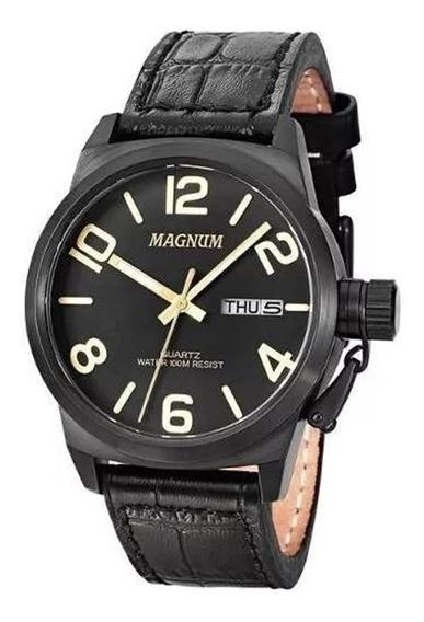 Relógio Masculino Magnum Ma33399p - Barato 2 Anos Garantia