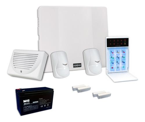 Alarma Para Casa+sensor Mov+sensor Magn+bateria+12c