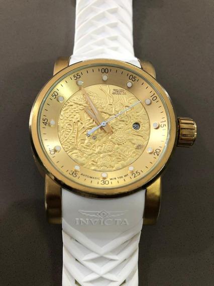 Relógio Invicta Yakuza Nh35a Automático Banhado A Ouro 18k