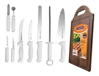 Cuchillos Para Chef C/estuche + Tabla Rectangular Tramontina
