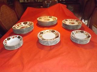 Vajilla En Porcelana China Liling Fine 6 Personas 42 Piezas