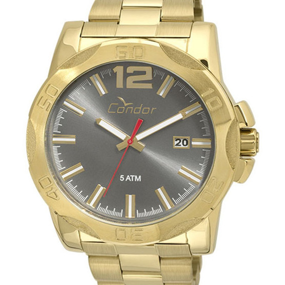 Relógio Condor Masculino Original Co2415bf/4c Dourado + Nf