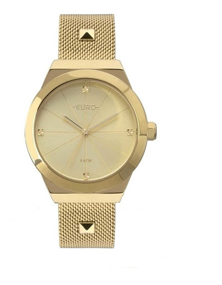 Relógio Euro Feminino Spike Dourado Eu2035yrj/4d - Promo