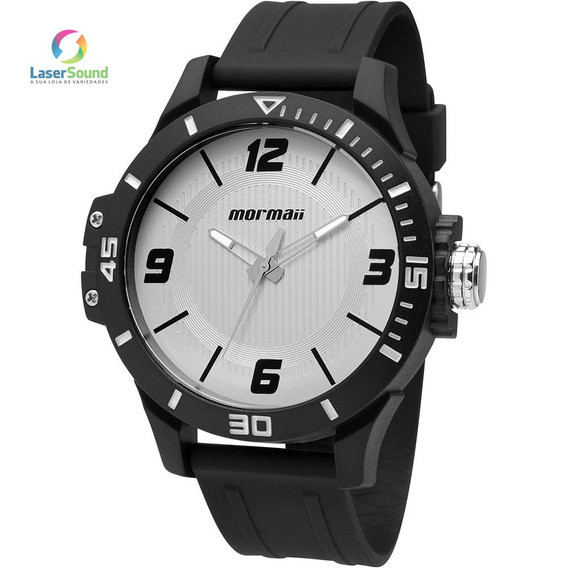 Relógio Mormaii Masculino Mo2035fl/8b, C/ Garantia E Nf