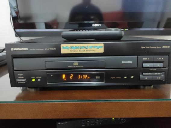 Laser Disc Pioneer Cld- D606 C Controle Super Conservado Dvl