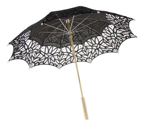 Guarda-chuva Artesanal Vintage De Algodão Com Guarda-sol De