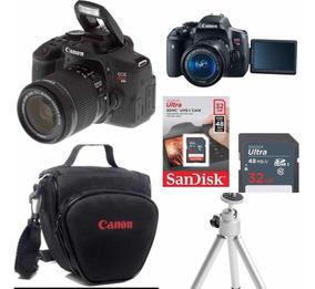 Câmera Canon Eos T6i 18-55mm F/3.5-5.6 Is Stm Preto