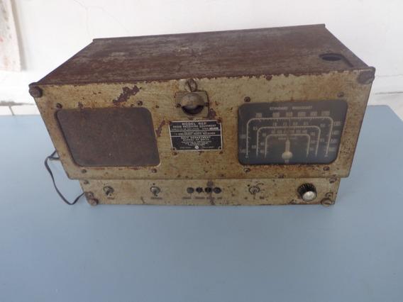 Rádio Mesa Valvulado Americano Crosley Caixa Ferro Frete Grátis