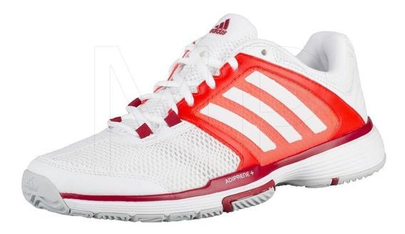 Zapatillas adidas Barricade Para Dama (blanco/rojo Solar).