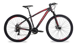Bicicleta Oggi Hacker Sport Preto E Vermelho - Tamanho 17