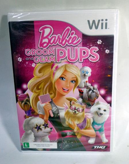 Barbie Groom And Glam Pups Nintendo Wii Lacrado Original