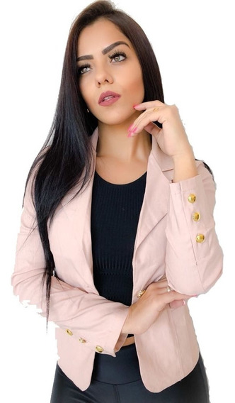 Blazer Feminino Colorido Terninho Fashion Slim Lindo