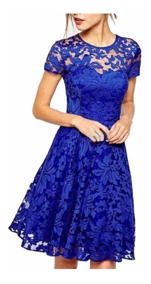 Vestido Azul Fiestas Eventos
