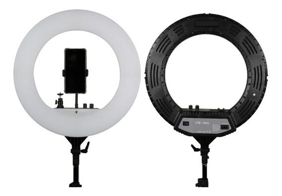 Iluminador Ring Light Rl18 Bicolor Completo