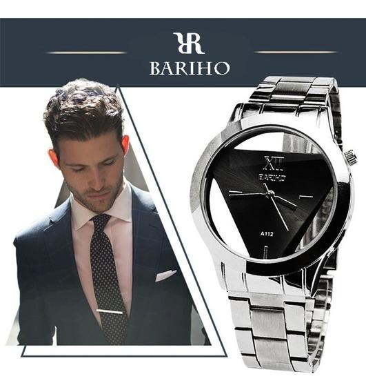Reloj Bariho Triangulo De Acero Inoxidable Para Hombre