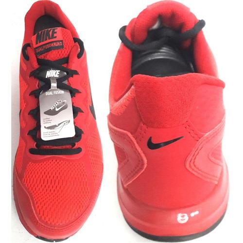 Llanura nitrógeno Agnes Gray  Hombre Tenis Nike Dual Fusion Run 3 Msl Running Red & Black | Mercado Libre