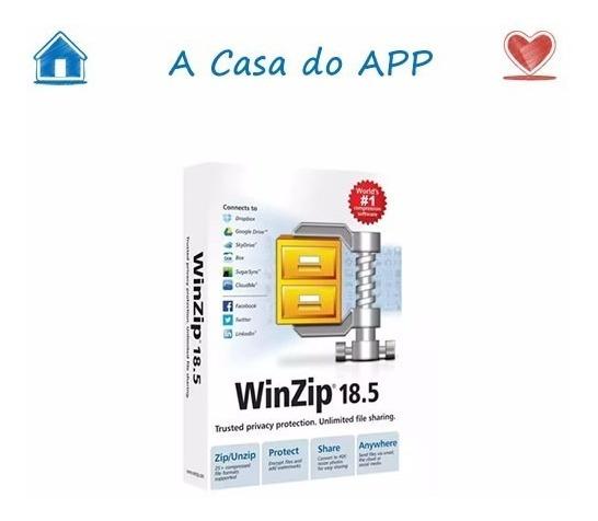 Winzip 18.5 Melhor Descompactador Do Mundo Licença Pf Ou Pj
